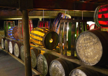 Cask-lights-in-Cadenhead's-warehouse