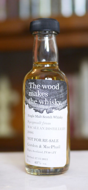 The-Macallan-9-Speymalt-Gordon-&-MacPhail-the-wood-makes-the-whisky